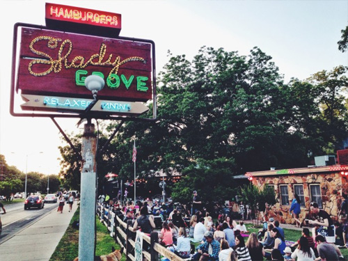people enjoying outdoor concert at Shady Grove
