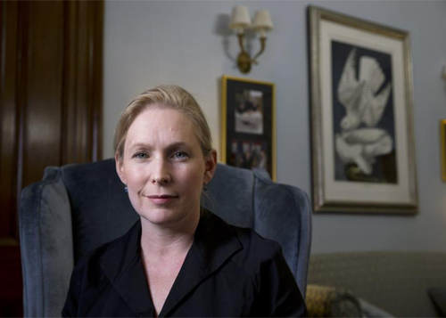 New York Senator Kirsten Gillibrand announces Every Child Deserves a Family Act in support of LGBT parents